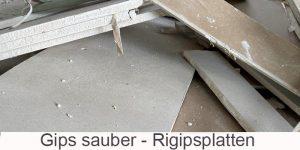 Gips und Rigipsplatten